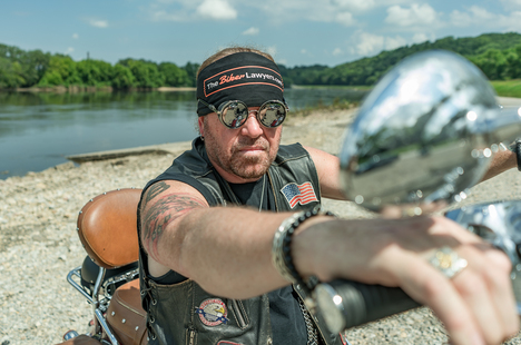 Image of Pete Leehey, Biker Lawyer, on Meet The Crew page