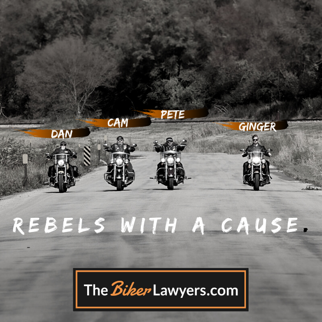 Dan, Cam, Pete, and Ginger are The Biker Lawyers: Rebels with a Cause.